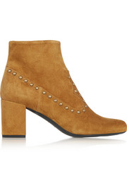 Saint Laurent Studded suede ankle boots
