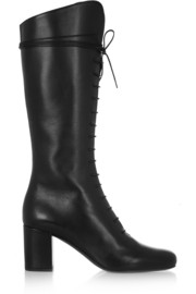 Saint Laurent Lace-up leather knee boots