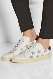 Saint Laurent Star-appliquéd leather sneakers