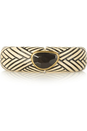 Isabel Marant Engraved wood, horn and brass bracelet