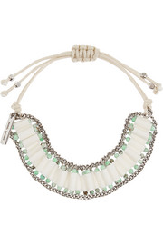 Isabel Marant Bone, turquoise and silver-plated bracelet