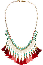 Gold-plated beaded necklace