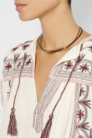 Isabel Marant Gold-plated leather necklace