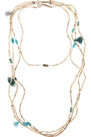 Isabel Marant Set of two ceramic bead, bone and turquoise necklaces