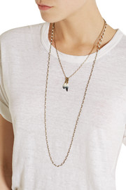 Isabel Marant Set of two gold-plated and bone necklaces