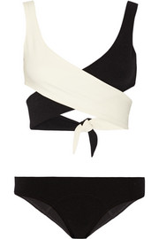 Marie-Louise stretch-crepe bikini