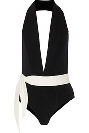 Lisa Marie Fernandez Riri two-tone swimsuit
