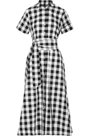 Gingham poplin shirt dress