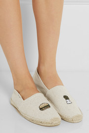 Soludos + Soludos embroidered canvas espadrilles