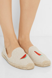 Finds + Soludos embroidered canvas espadrilles