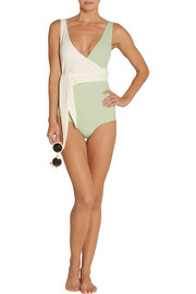 Dree Louise two-tone wrap swimsuit