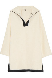 Hooded cotton-terry beach tunic