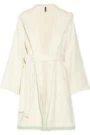Hooded cotton-terry robe