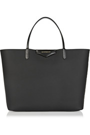 Antigona shopping bag in black coated canvas