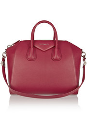 Medium Antigona bag in cherry textured-leather