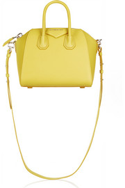 Givenchy Mini Antigona bag in bright-yellow textured-leather