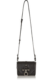 Obsedia Coney shoulder bag in black leather