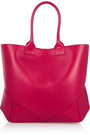 Easy bag in cherry leather