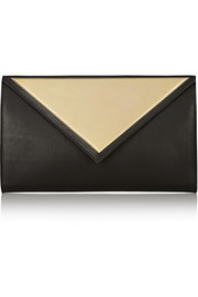 Evening clutch in black leather