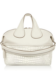 Medium Nightingale bag in croc-effect leather