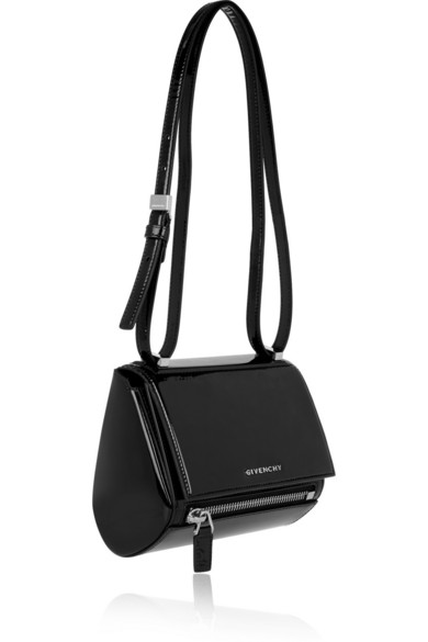7a2f853455c0 Givenchy. Mini Pandora Box bag in black patent-leather