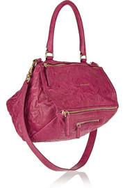 Medium Pandora bag in plum washed-leather