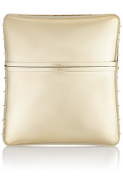 Clutch in gold-tone brass