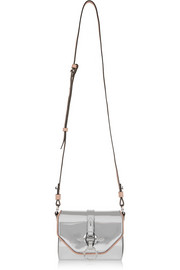 Obsedia Coney shoulder bag in silver mirrored leather