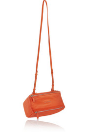 Mini Pandora bag in bright-orange leather