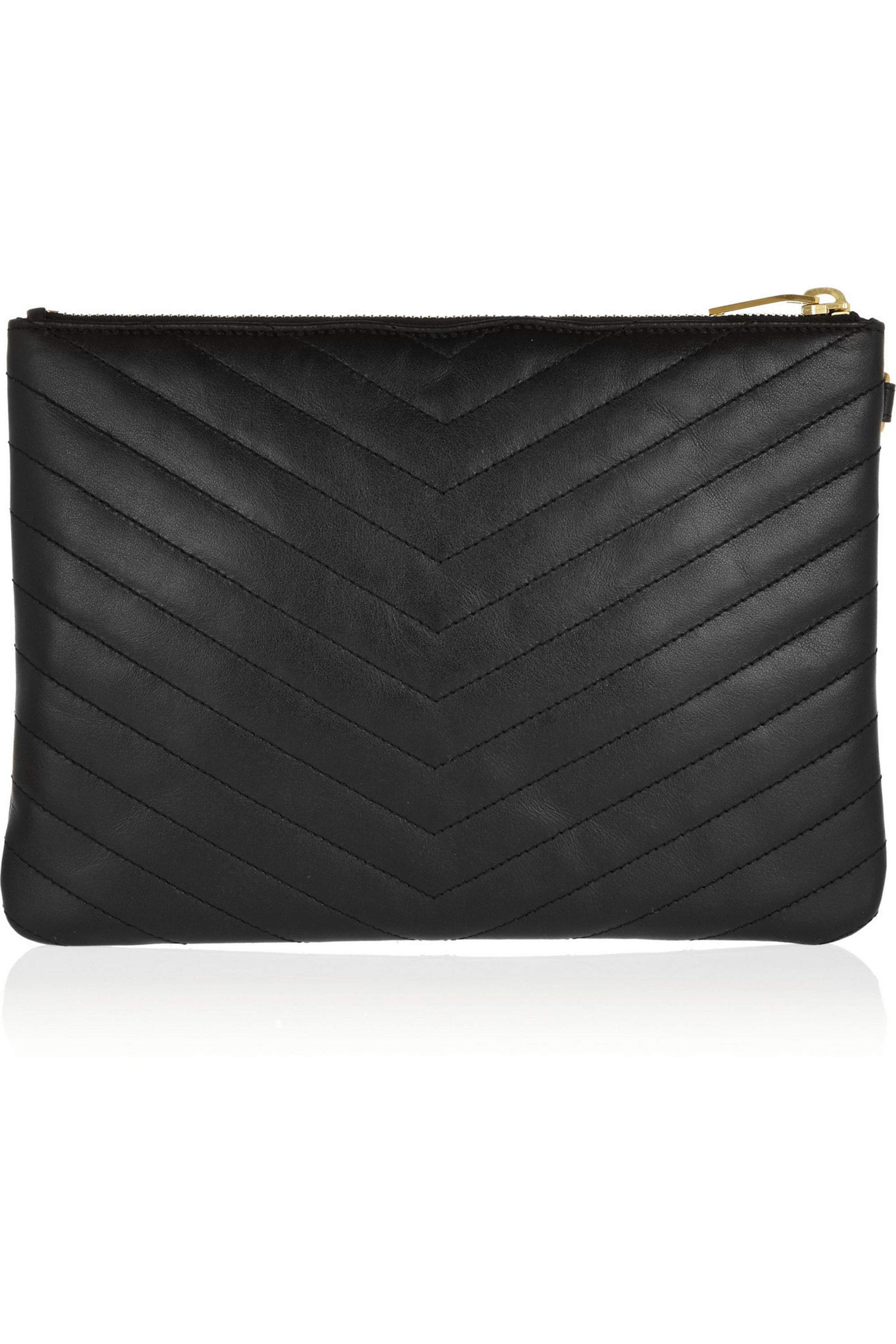 SAINT LAURENT Monogramme quilted leather clutch
