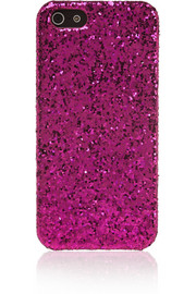 Saint Laurent Glitter-finished iPhone 5 case