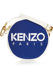KENZO Leather-trimmed canvas shoulder bag