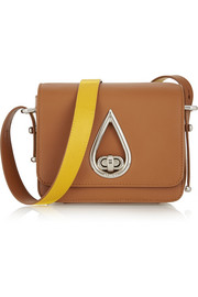 Raindrop leather shoulder bag