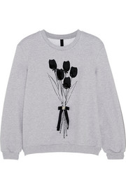 Berg embellished cotton-jersey sweatshirt