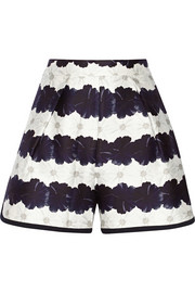 Addison floral-print cotton and silk-blend shorts
