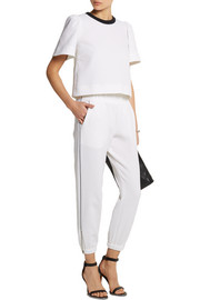 Mother of Pearl Reece stretch-cotton piqué track pants