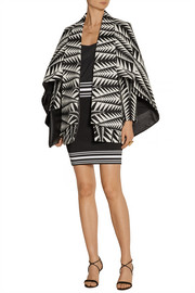 Balmain Cape-effect jacquard jacket