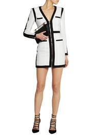 Balmain Woven cotton mini dress