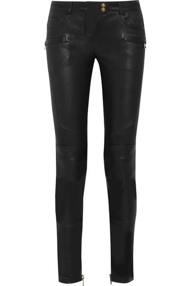 711247750b2 Balmain   Stretch-leather skinny pants   NET-A-PORTER.COM