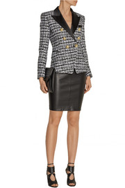 Balmain Satin-trimmed tweed blazer