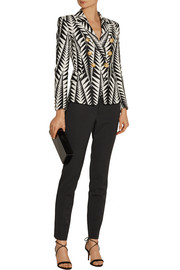 Balmain Printed cotton-blend blazer