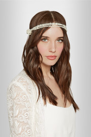 Alina knotted faux pearl headband