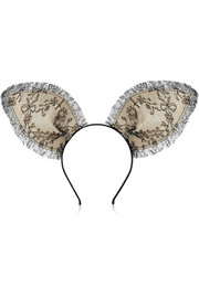 Maison Michel Heidi lace bunny ear headband