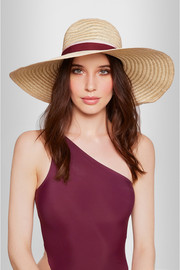 Blanche wide-brim straw hat