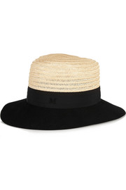 Henrietta rabbit-felt and straw trilby