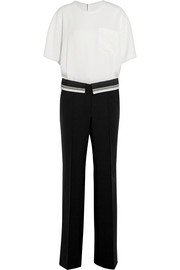 Maison Margiela Crepe and wool-blend twill jumpsuit