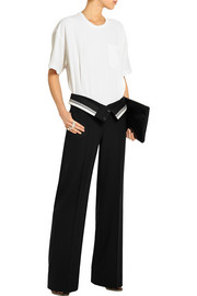 Crepe and wool-blend twill jumpsuit