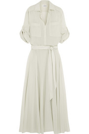 Cotton-gauze maxi dress