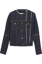 Maison Margiela Cutout distressed denim jacket