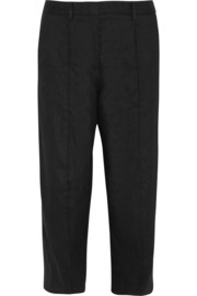 Maison Margiela Cropped linen-blend wide-leg pants